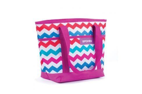 SPOKEY - ACAPULCO Plážová termo taška malá, fialová zigzag, 36 x 15 x 27 cm Plážové tašky