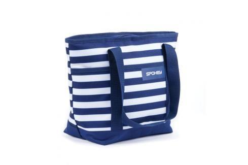 SPOKEY - ACAPULCO Plážová termo taška, pruhy - námořnická modrá Plážové tašky