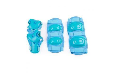 SPOKEY - AEGIS - 3-dílná sada dětských chráničů, tyrkys, vel. S Chrániče na letní sporty