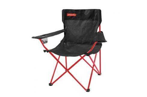 SPOKEY - ANGLER - turistické skládací křeslo černo - červené Houpací sítě a cestovní židle