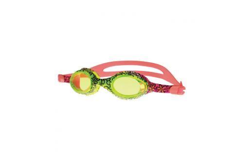 SPOKEY - BARBUS Plavecké brýle růžové s potiskem kytiček Plavecké brýle