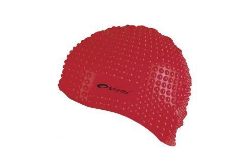 SPOKEY - BELBIN-Plavecká čepice bublinková červená Čepice na koupání