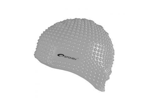 SPOKEY - BELBIN-Plavecká čepice bublinková šedá Čepice na koupání