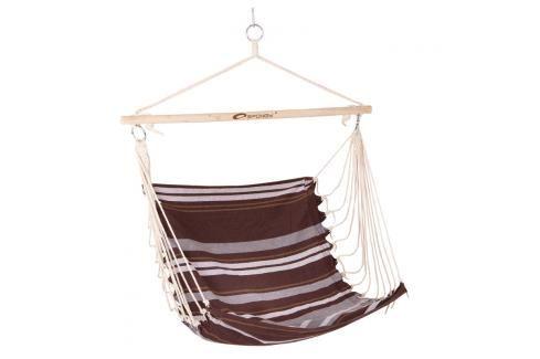 SPOKEY - BENCH hnědé pruhy - Houpačka sedátko pro dva, do 120 kg,  barevný mix Houpací sítě a cestovní židle