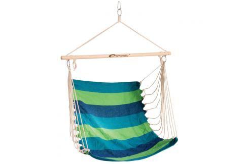 SPOKEY - BENCH zelené pruhy -  Houpačka sedátko pro dva, do 120 kg, barevný mix Houpací sítě a cestovní židle