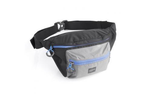 SPOKEY - BORA Ledvinka, černo-šedá, modrý zip, 5l Dětské peněženky