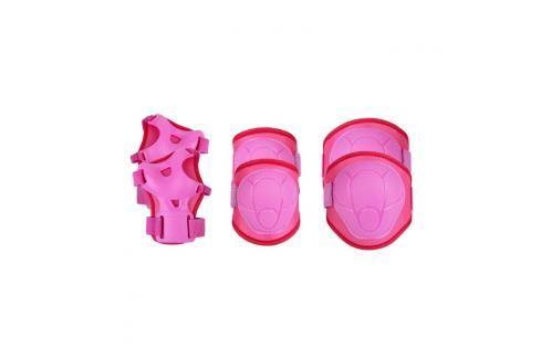 SPOKEY - BUFFER - 3-dílná sada dětských chráničů, růžové, vel. S Chrániče na letní sporty