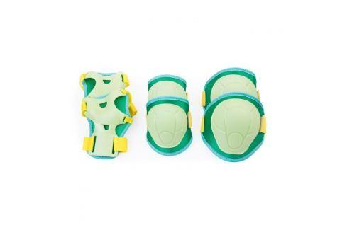 SPOKEY - BUFFER - 3-dílná sada dětských chráničů, zelené, vel. XS Chrániče na letní sporty