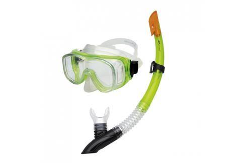 SPOKEY - CEFEUSZ - Sada brýle + šnorchl zelená Potápěčské soupravy