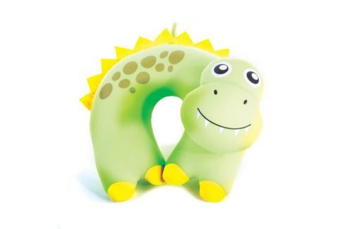 SPOKEY - BAMBINI Cestovní polštářek dětský mikrokuličky dinosaur Cestovní polštáře a nákrčníky pro děti
