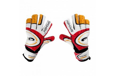 SPOKEY - GRASP brankářeké rukavice červeno-bílé roz.6 Fotbal