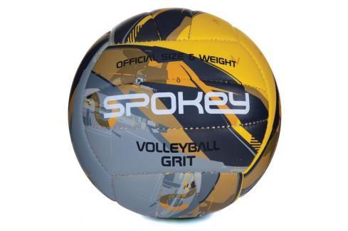 SPOKEY - GRIT Volejbalový míč šedo-žlutý č.5 Volejbal