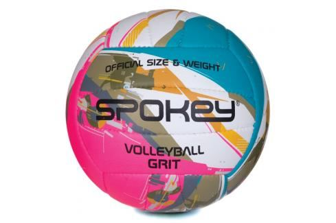 SPOKEY - GRIT Volejbalový míč tyrkysovo-bílo-růžový č.5 Volejbal
