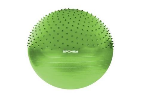 SPOKEY - HALF FIT Gymnastický míč 2v1 65 cm včetně pumpičky zelený Fitness míče