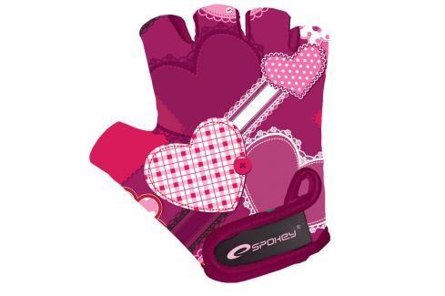 SPOKEY - HEART GLOVE Dětské cyklistické rukavice XS Cyklistické rukavice