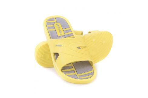SPOKEY - INTRO Nazouváky, dámské, vel. 36, šedá - žlutá Dámské nazouváky