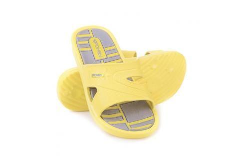 SPOKEY - INTRO Nazouváky, dámské, vel. 41, šedá - žlutá Dámské nazouváky