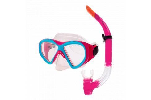 SPOKEY - KRAKEN II Sada brýle + šnorchl růžová Potápěčské soupravy