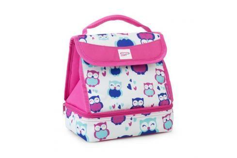 SPOKEY - LUNCH BOX Pink Termotaška s plastovým boxem a sadou příborů Plážové tašky