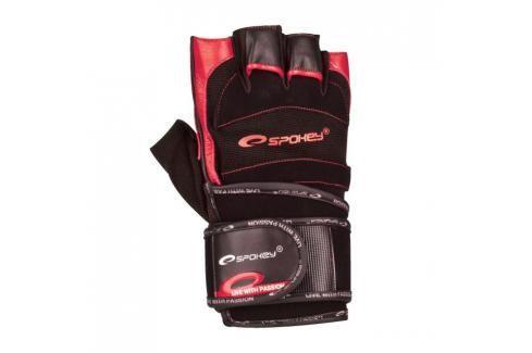 SPOKEY - MITON Fitness rukavice černo - červené vel. M Rukavice pro fitness
