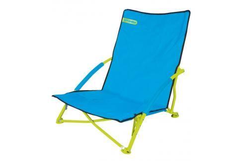 SPOKEY - PANAMA - plážové skládací křeslo tyrkys-limeta Houpací sítě a cestovní židle