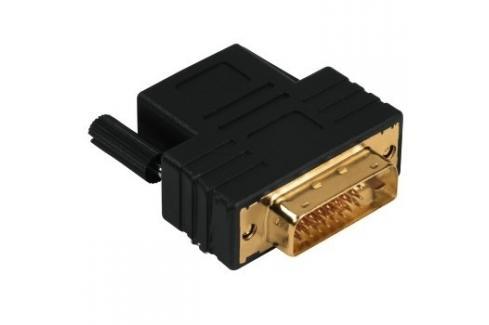 Redukce DVI-D vidlice - HDMI zásuvka, pozlacená PC kabely