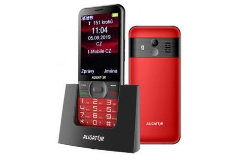 Tlačítkový telefon pro seniory Aligator A900, červená Heureka.cz | Elektronika | Mobily, GPS | Mobilní telefony