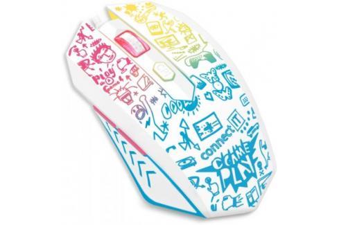 Drátová myš Connect IT Doodle, 6 tlačítek, podsvícená, bílá Heureka.cz | Elektronika | Počítače a kancelář | Klávesnice a myši | Myši