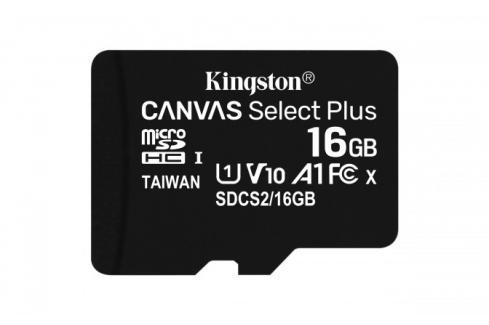 16GBmicroSDHCKingstonCanvasSelect Plus  A1 CL10 100MB/s Heureka.cz | Elektronika | Počítače a kancelář | Počítačové příslušenství | Paměťové karty