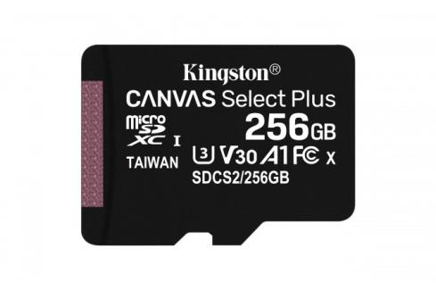 256GB microSDXC Kingston Canvas Select Plus  A1 CL10 100MB/s Heureka.cz | Elektronika | Počítače a kancelář | Počítačové příslušenství | Paměťové karty