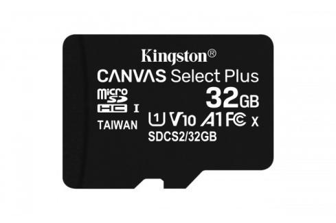 32GB microSDHC Kingston Canvas Select Plus  A1 CL10 100MB/s Heureka.cz | Elektronika | Počítače a kancelář | Počítačové příslušenství | Paměťové karty