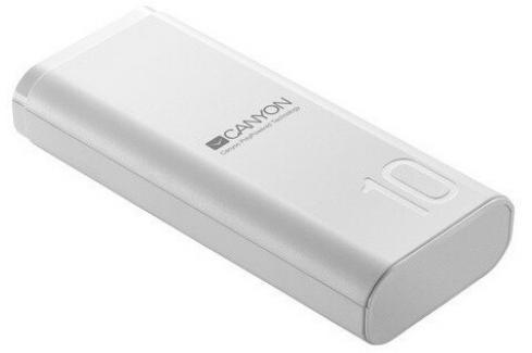 Powerbanka Canyon 10000mAh, Li-Pol,  Smart IC, bílá Heureka.cz | Elektronika | Baterie | Powerbanky