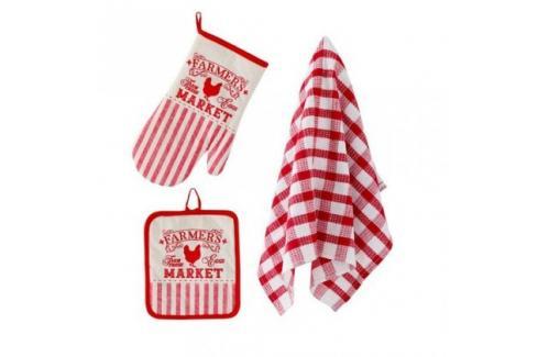 TORO 267485 Kuchyňský set - rukavice,chňapka,utěrka Ostatní kuchyňské potřeby