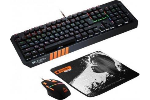 Set Canyon Nightflyer, myš+podložka+klávesnice, US layout, černá Heureka.cz | Elektronika | Počítače a kancelář | Klávesnice a myši | Sety klávesnic a myší